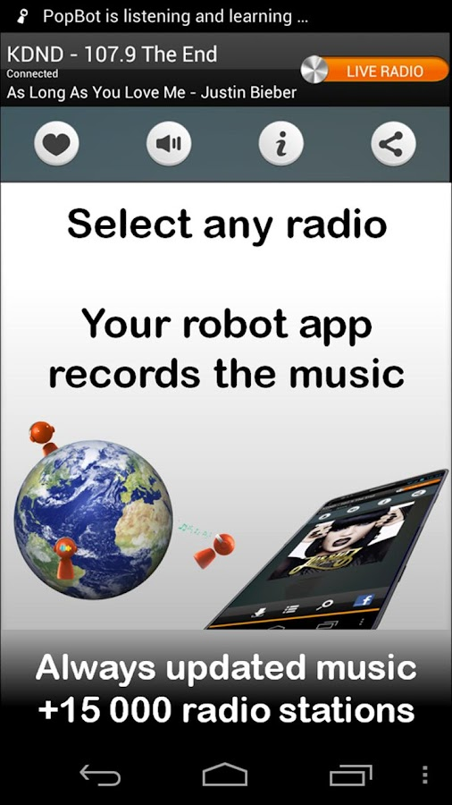 PopBot - Radio Music - screenshot