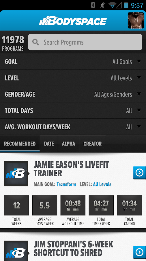 BodySpace - Social Fitness App- screenshot