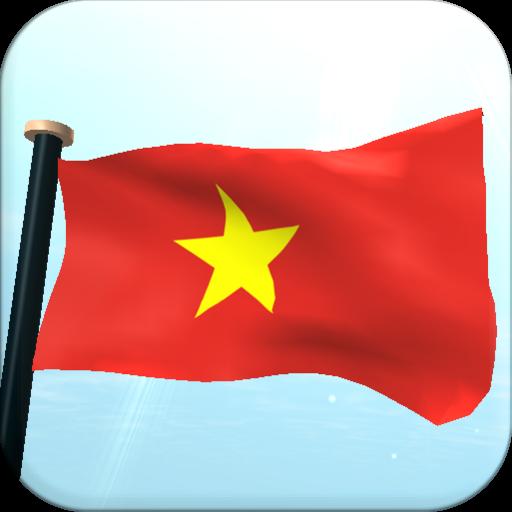 Vietnam Flag 3D Free Wallpaper