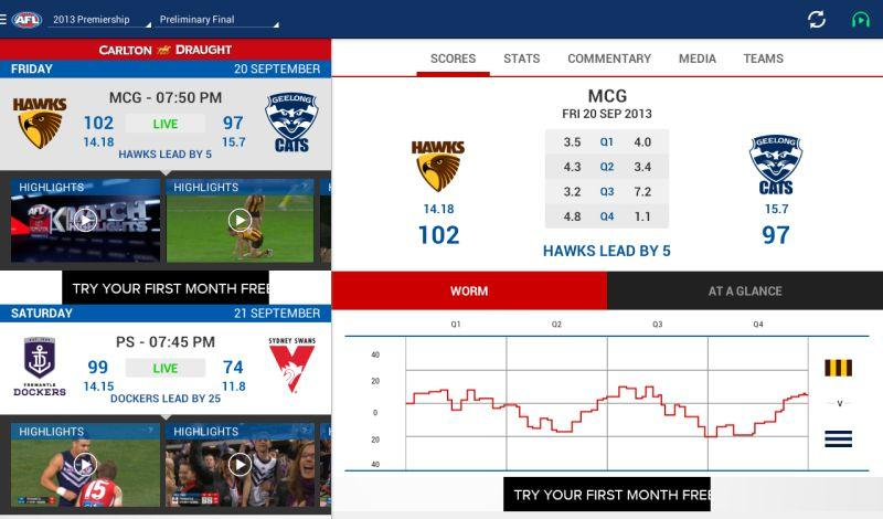 AFL Live Official App - screenshot