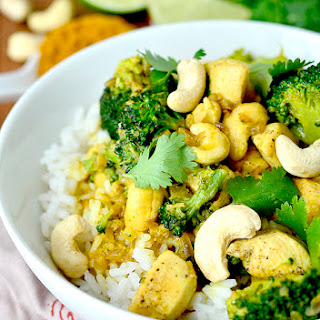 Cashew Chicken Coconut Curry