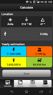 Photovoltaic Estimation App - screenshot thumbnail