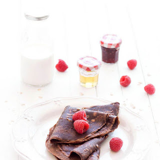 Eggless Chocolate Oat Crepes.