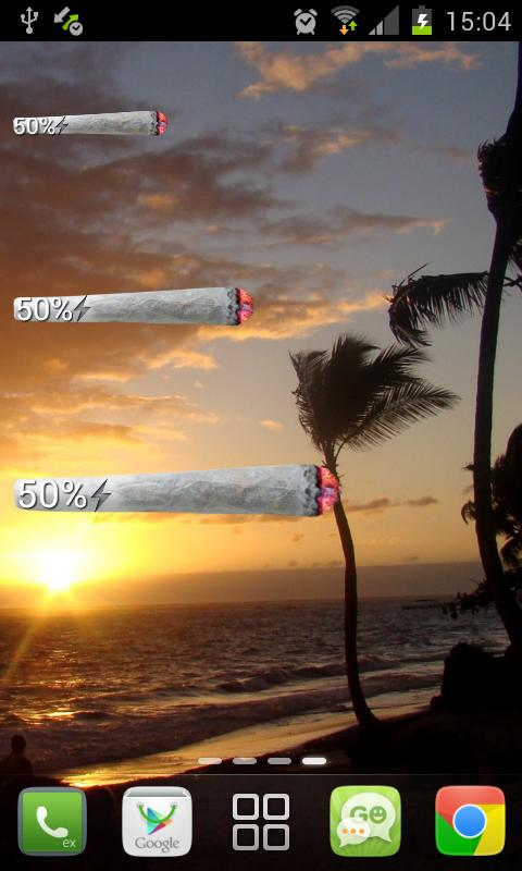 Weed Joint HD Battery Widget- screenshot