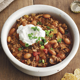 Slow-Cooker Beef Chili with Beer and Lime Sour Cream