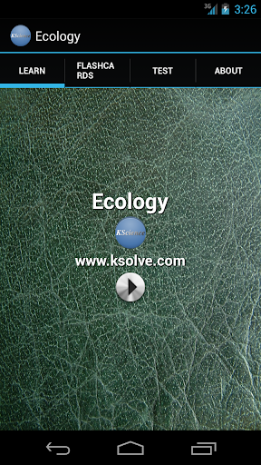 BIOLOGY - ECOLOGY
