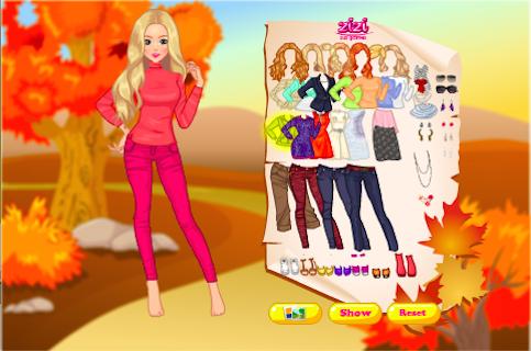 Golden Fall Style Dress Up - screenshot