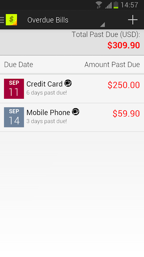Bills Reminder - screenshot