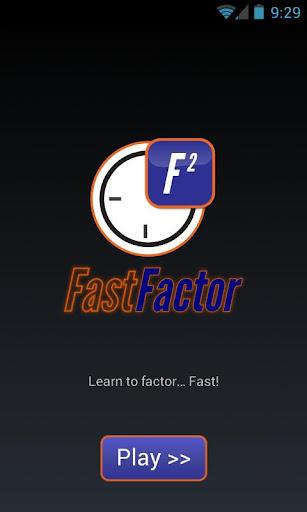 Fast Factor FREE -- Math Game