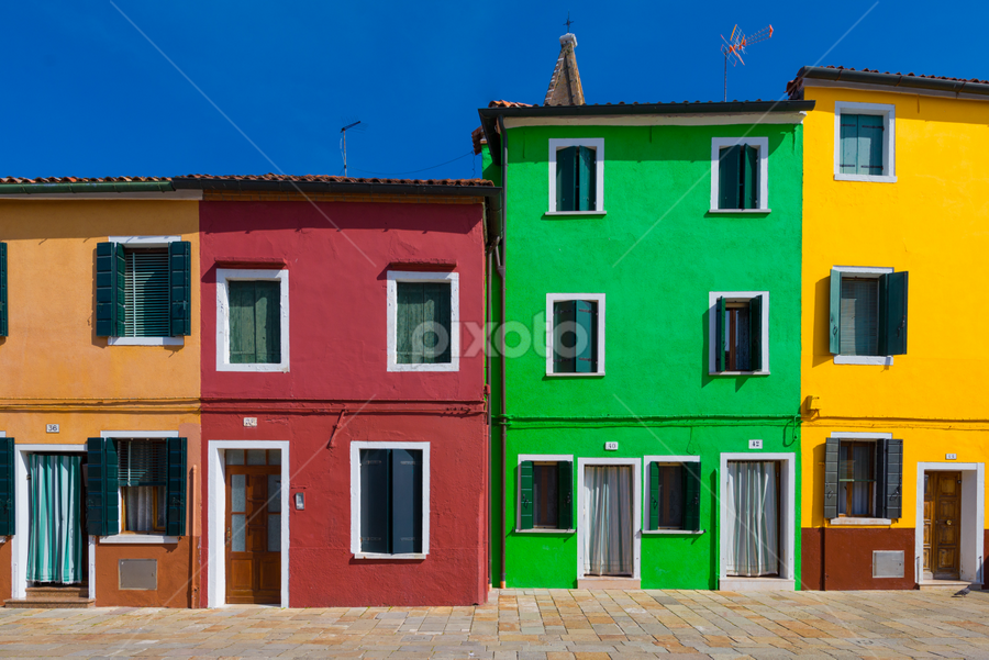 Coming Home by Napoleon Florece - Buildings & Architecture Homes ( home, europe, color, burano, italy )