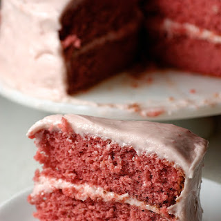 Strawberry Cake with Strawberry Cream Cheese Frosting.