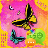 Theme Butterfly for GO SMS