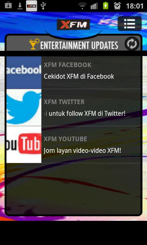 XFM - screenshot