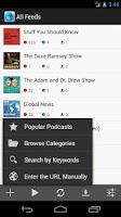 Screenshot of Cast++ Podcast Player