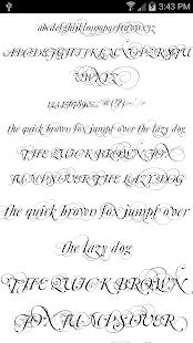 Fonts for FlipFont Script Font 5