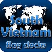 South Vietnam flag clocks