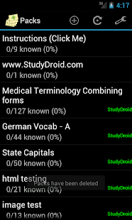 StudyDroid Flashcards 2.0-Free - screenshot thumbnail