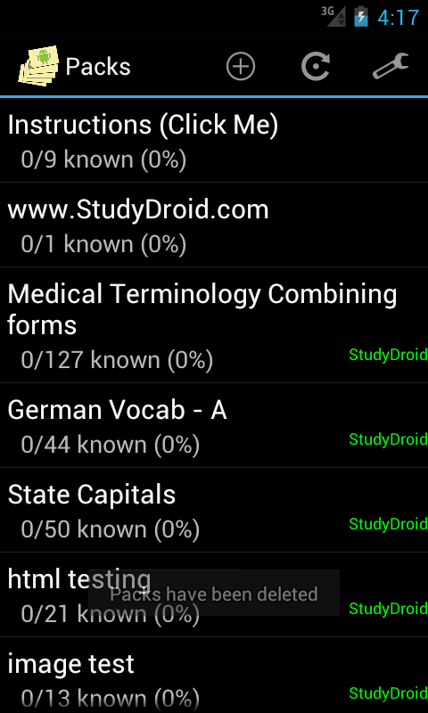 StudyDroid Flashcards 2.0-Free- screenshot