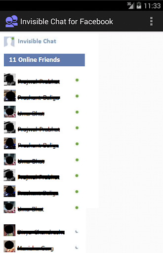 Invisible Chat for Facebook 1.5 screenshots 1