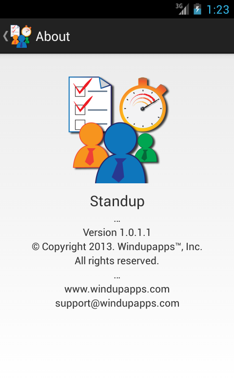 Standup™ Free - screenshot
