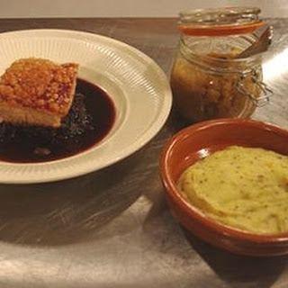 One Day Pork Belly With Mustard Mash