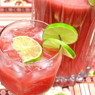 Watermelon Lime Agua Fresca.