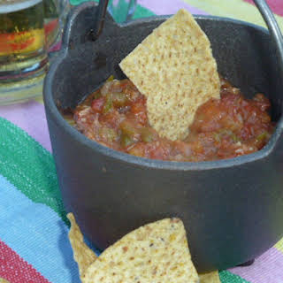 Roasted Hatch Green Chile and Tomato Salsa.