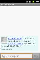 Screenshot of Who called me