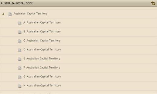 AUSTRALIA POSTAL CODE - screenshot thumbnail