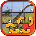 Kids Dinosaur Rex Slide Puzzle icon