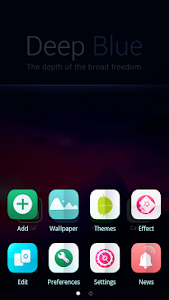 Deep Blue GO Launcher Theme v1.0