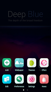 Deep Blue GO Launcher Theme- screenshot thumbnail