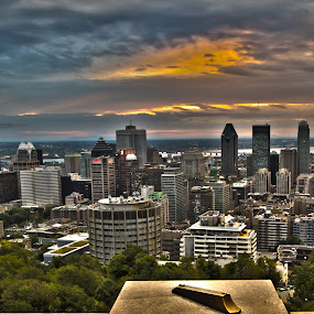 Montreal Sunrise by Faisal Abuhaimed - City,  Street & Park  Skylines