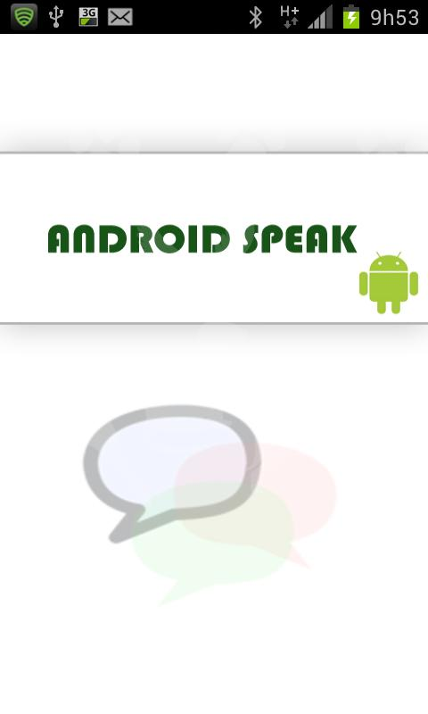 Android Speak TTS - screenshot