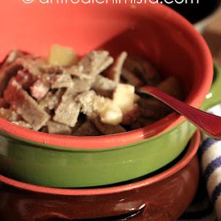 Pizzoccheri (Buckwheat Flour Pasta) with Artichokes.