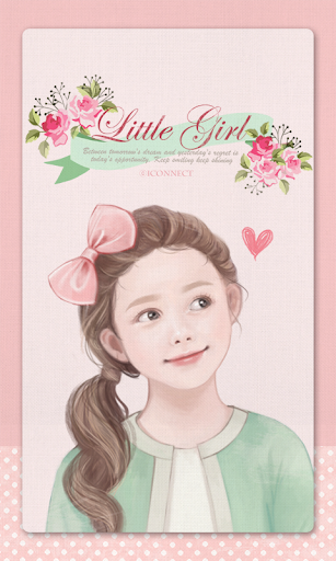 Little Girl go launcher theme