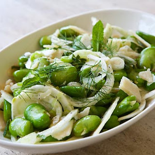 Spring Fava Bean Fennel Salad.