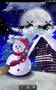 Christmas Snowman - Wallpaper screenshot
