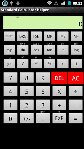 Standard Calculator Helper
