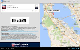 Screenshot of PassAndroid Passbook viewer