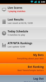 Tennis Live scores- screenshot thumbnail