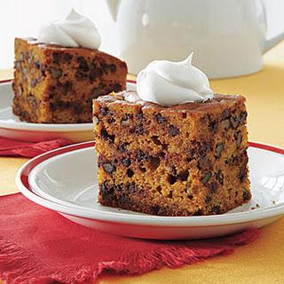Pumpkin-Chocolate Chip Cake