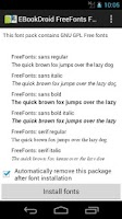 Screenshot of EBookDroid FreeFonts FontPack