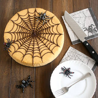 Spiced Pumpkin Spiderweb Cheesecake.