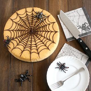 Spiced Pumpkin Spiderweb Cheesecake.