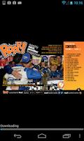 Screenshot of ROAR! weekly race magazine