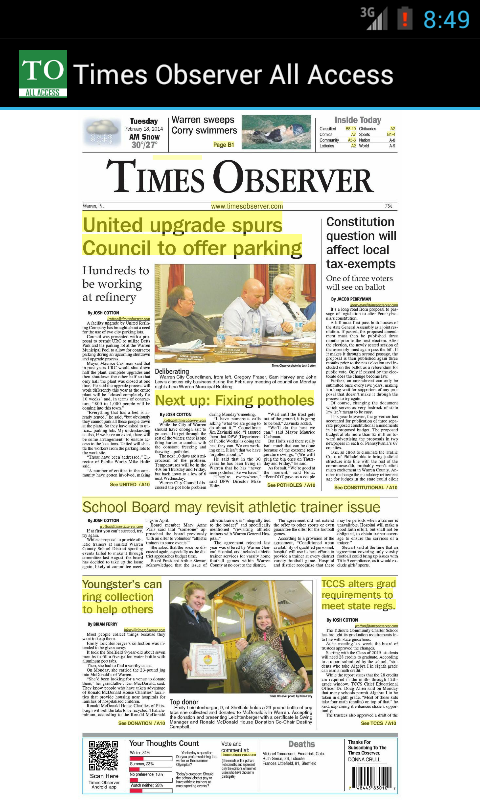 Times Observer All Access- screenshot