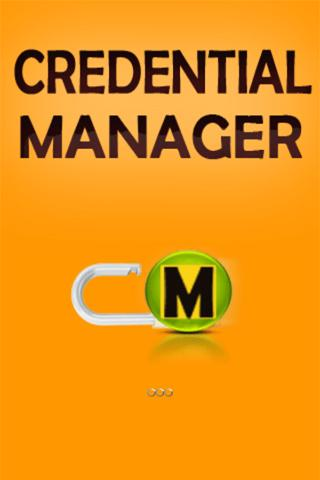 CREDENTIAL MANAGER - password