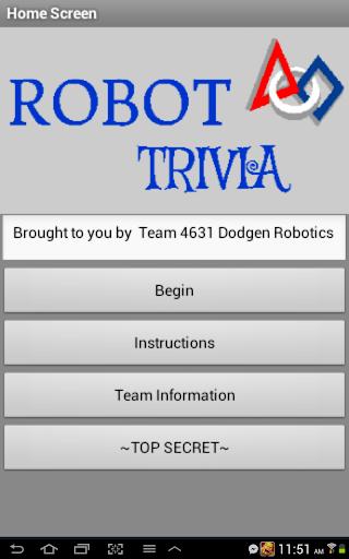 Robot Trivia