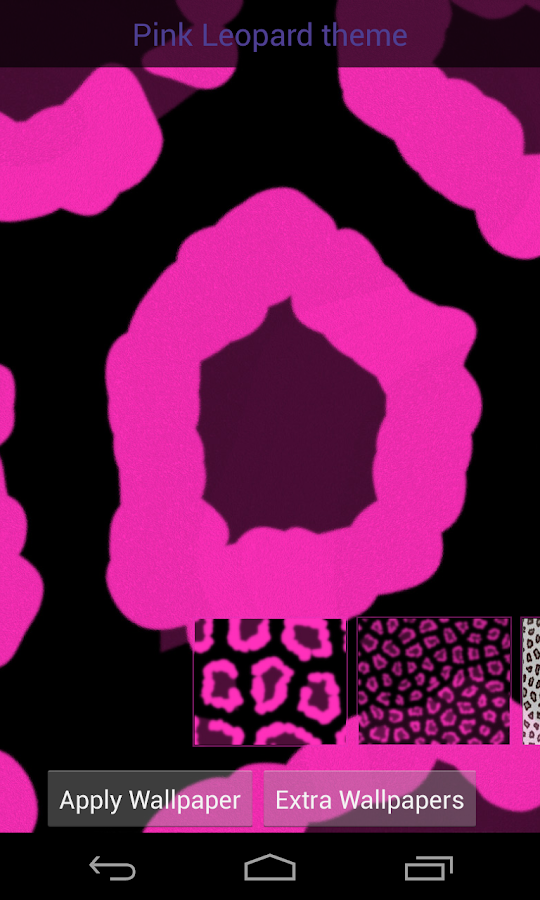 Pink Leopard Icon Pack- screenshot